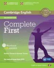 complete first certificate for spanish speakers workbook with answers with audio cd 2nd edition-9788483238233