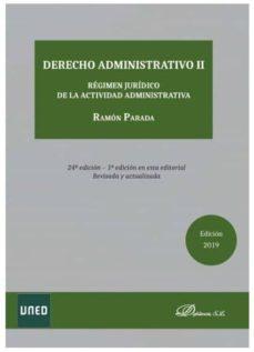 derecho administrativo ii (24ª ed. 2019)-ramon parada-9788413241746