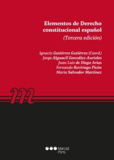 elementos de derecho constitucional español (3ª ed)-9788491236931