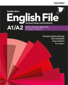 english file 4th edition a1/a2. student s book and workbook with key pack-9780194058001
