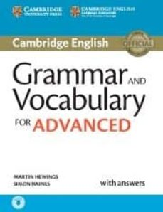 grammar and vocabulary for advanced book with answers and audio: self-study grammar reference and practice-martin hewings-9781107481114