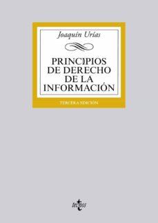 principios de derecho de la informacion-joaquin urias-9788430963003