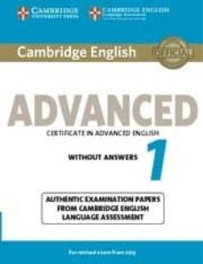 cambridge english advanced 1 for revised exam from 2015 student s book without answers-9781107689589