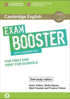 cambridge english exam booster with answer key for first and first for school-9781108553933