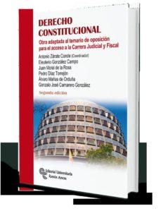derecho constitucional: obra adaptada al temario de oposicion para el acceso a la carrera judicial y fiscal-9788499613260