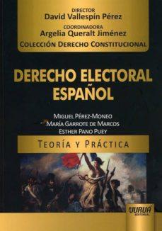 derecho electoral español-miguel perez-moneo-9789897125775