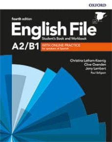 english file 4th edition a2/b1. student s book and workbook with key pack-9780194058124