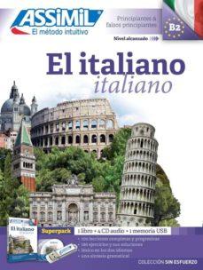 el italiano (b2) superpack: 1 libro + 4 cd audio + 1 memoria usb-9782700581072