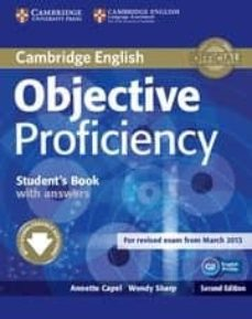 objective proficiency (2nd ed.): student s book with answers with downloadable software-annette capel-wendy sharp-9781107646377
