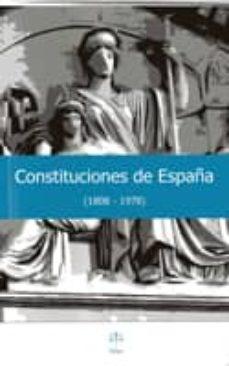 constituciones de españa (1808-1978)-9788492754168