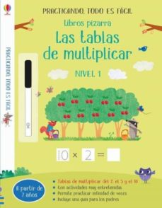 libros pizarra tablas de multiplicar: practicando todo es facil-holly bathie-9781474967174