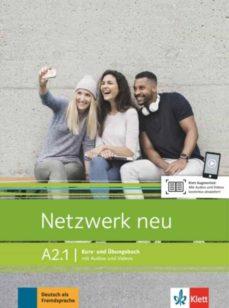 netzwerk neu a2.1 alum+ejer+audio v. libro del alumno y libros de ejercicios con audios y videos online-9783126071628