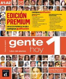 gente hoy 1: libro del alumno + cd (a1-a2) edición premium curso de español-9788417710163