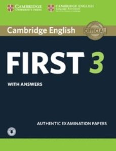 cambridge english first 3 student s book with answers with audio-9781108380782