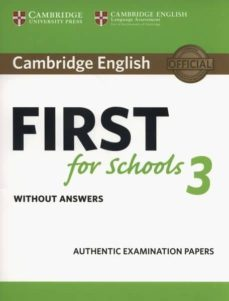 cambridge english first for schools 3 student s book without answers-9781108433761