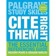 cite them right: the essential referencing guide (palgrave study skills)-9781137585042