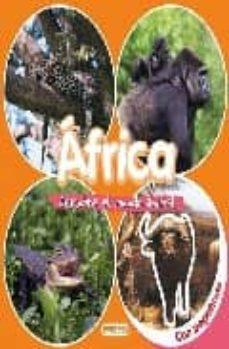 descubre el mundo animal: africa (libro de pegatinas)-9788424116606