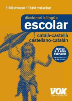 diccionari escolar català-castellà / castellano-catalán-9788499742724