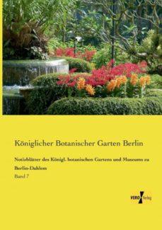 notizblatter des konigl botanischen gartens und museums zu berlindahlem-9783957386908