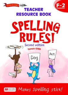 spelling rules! teacher resource book f-2-9781420236552