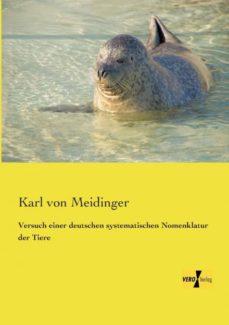 versuch einer deutschen systematischen nomenklatur der tiere-9783957387028