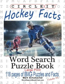 circle it, ice hockey facts, large print, word search, puzzle book-9781945512209