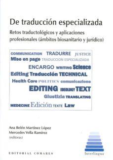 de traducción especializada-ana belen martinez lopez-9788490452097
