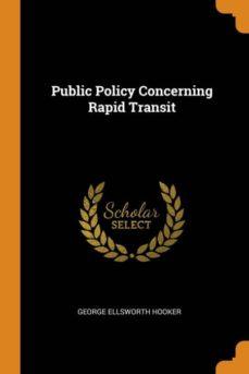 public policy concerning rapid transit-9780341854784