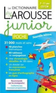 dictionnaire larousse junior poche, 7-11 ans, ce-cm alerte-9782035938183