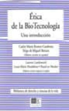 etica de la bio tecnologia: una introduccion-9788498366754