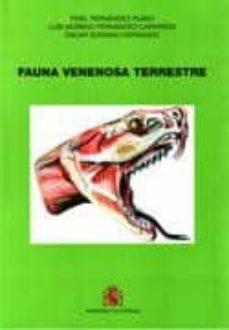 fauna venenosa terrestre-fidel fernandez-rubio-9788497815789
