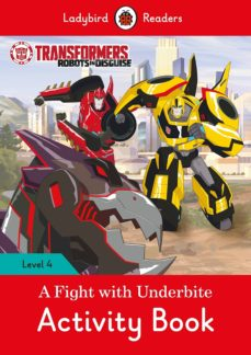 transformers: a fight with underbite activity book - ladybird readers level 4-9780241298732