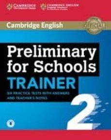 preliminary for schools trainer 2-9781108401630