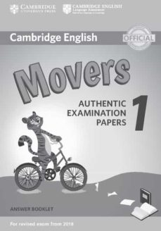 cambridge english young learners english tests (2018 exam) movers 1 answer booklet-9781316635940
