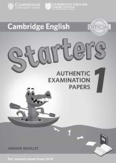 cambridge english young learners english tests (2018 exam) starters 1 answer booklet-9781316635933