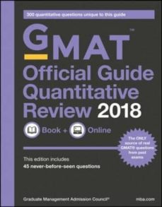 gmat official guide 2018 quantitative review: book + online-9781119387497