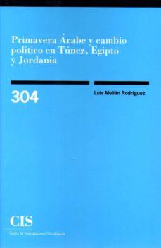primavera arabe y cambio politico en tunez, egipto y jordania-luis melian rodriguez-9788474767353