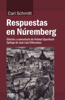 respuestas en nuremberg-carl schmitt-9788417134051