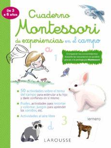 cuaderno montessori de experiencias en el campo-9788418100352