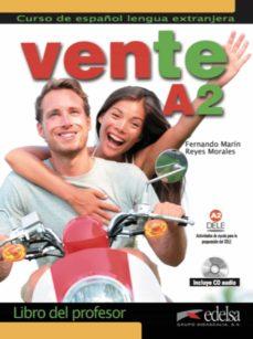 vente a2 libro del profesor + cd audio-fernando marin-reyes morales-9788490813720