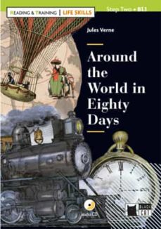 around the world in eighty days con cd serie like skills reading and training-9788468250229