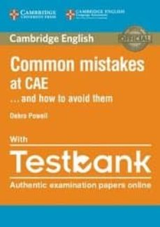 common mistakes cae. how to avoid them/ testbank-9781316629321