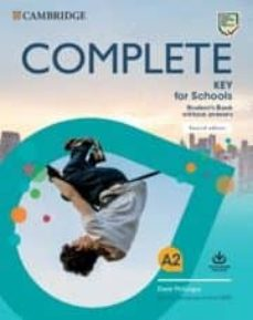 complete key for schools a2. student s book without answers with online practice-david mckeegan-9781108539333