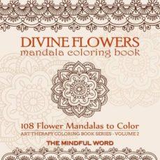 divine flowers mandala coloring book-9781987869408