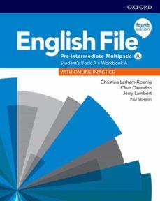english file pre- intermediate  (multipack a):  student book/work book 4ed-9780194037303