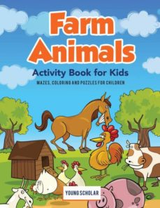 farm animals activity book for kids-9781635894448