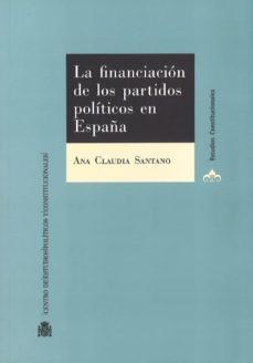 la financiacion de los partidos politicos en españa-9788425917134