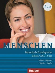 menschen a2/2: deutsch als fremdsprache / glossar xxl deutsch-spanisch - guía alemán-español-9783197519029
