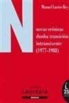 novas cronicas dunha transicion intransixente (1977-1988)-9788484873181