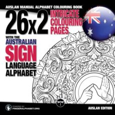 26x2 intricate colouring pages with the australian sign language alphabet-9783864690433